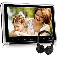 10,1 Zoll Auto Monitor DVD Player Kopfstütze Bildschirm HD System mit Fernbedienung Kopfhörer Kfz System HDMI unterstützt Spiel USB SD FM IR für Kinder NAVISKAUTO CH1007S