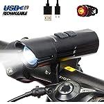 5115nWMiaIL. SS150 Nestling Luci LED per Bicicletta Ricaricabili USB,CREE XM-L U3 LED 1200 Lumen Super Luminoso Luce Bici Anteriore e…