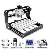 CNC 3018 Pro Engraver freesmachine, ambachtslieden 168 upgrade-versie GRBL controller DIY mini-CNC-machine, 3-assige printfreesmachine met offline controller met ER11 en 5 mm verlengstang