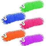 ASAB Large Long Rubber Hair Puffer Squishy Caterpillars Bog Eyed Bugglies Squeeze Toys