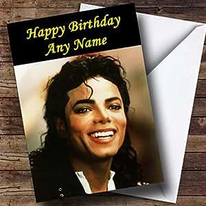 Carte d'anniversaire personnalisée Michael Jackson