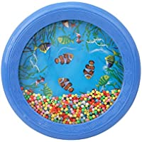 YiHan Ocean Wave Bead Drum, Gentle Sea Sound Musical Teaching Learning Preschool Educational Toy Gift for Kids Child Baby