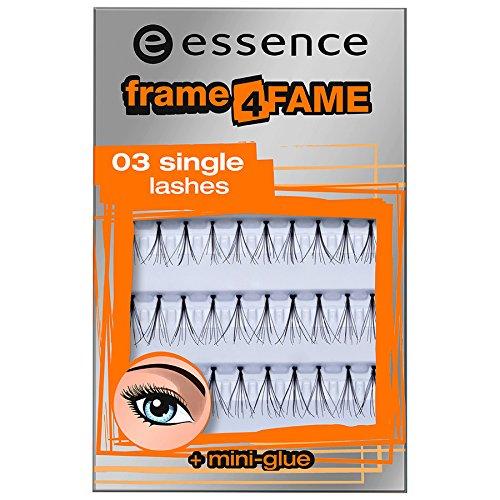 False Lashes sNr. 03 single lashes + mini glue Inhalt: 40 Einzelwimpern + Wimpernkleber 1ml - Künstliche Wimpern für einen ultimativen Blickfang! (40 Wimpern)