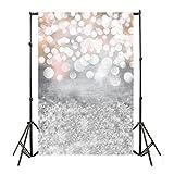 Wawer Traumhafte Glitter-Halos-Fotografie-Hintergrund-Studio-Stützhintergrund des Liebhaber-Liebhabers für Fotografie, Parteien, Stangen Größe: 90 * 150cm (Colour A)