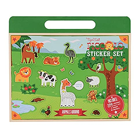 Animal Sticker Set for Girls and Boys. Zoo Sticker Activity
