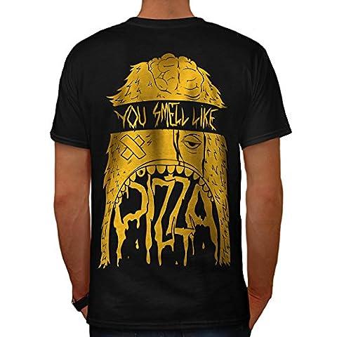 Pizza Face Cool Junk Food Men XL T-shirt Back | Wellcoda
