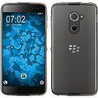 PhoneNatic Case für BlackBerry DTEK60 Hülle Silikon Crystal Clear transparent Cover DTEK60 Tasche + 2 Schutzfolien