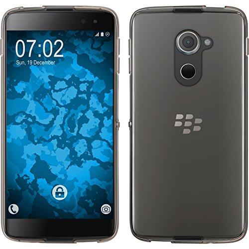 PhoneNatic Case für BlackBerry DTEK60 Hülle Silikon Crystal Clear, transparent + 2 Schutzfolien