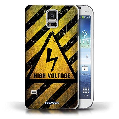Coque de Stuff4 / Coque pour Samsung Galaxy S5/SV / Biohazard Design / Signes de Danger Collection électricité