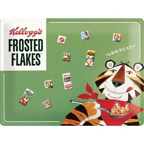 nostalgic-art-25013-kelloggs-frosted-flakes-tony-tiger-magnettafel-30-x-40-cm-inklusive-9-magneten