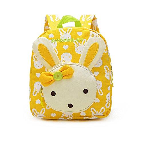 Imagen de  infantil / pequeña bebes guarderia bolsa lindo conejo animales bambino  para pequeño niñas amarillo