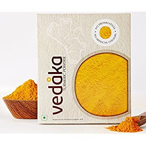 Amazon Brand – Vedaka Turmeric (Haldi) Powder, 200g