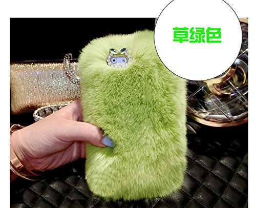 Coque iPhone 6/6S , iNenk® Rex Mao Téléphone Shell 3D luxe de diamant Shell réel cheveux doux TPU Téléphone Shell Cover Briller-modèle 14 Motif 3
