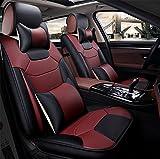 SEAT COVERS RUIRUI Set Copertura Sedile Auto, 5 Pezzi Coprisedili Universali ad Alta qualità in PU Cuoio, Wine