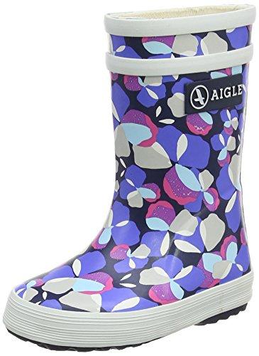 Aigle Unisex Baby Flac Glit Stiefel Mehrfarbig (Marine/rouge Poppy) 22 EU(5.5 UK)