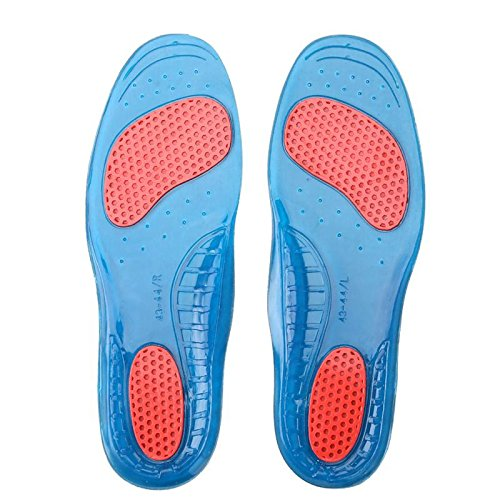 Generic Silicone Gel Orthotic Arch Support Sport Shoe Massaging Insoles Insert M  available at amazon for Rs.395
