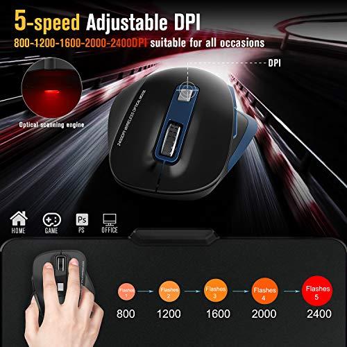 Zoom IMG-1 tedgem mouse wireless per laptop
