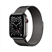 AppleWatch Series 6 (GPS + Cellular, 40mm) - Graphite Stainless Steel Case with Graphite Milanese Loop