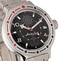 Vostok Amphibian 420526Ruso Militar reloj 2416b 200m auto azul marino de Vostok Amphibian