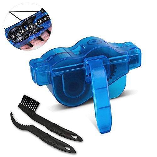 otumixx Fahrrad Kettenreinigungsgerät, Kettenreiniger Fahrrad Reinigung Scrubber Fahrradkettenreiniger Werkzeug für Alle Arten von Fahrrad Kettenreinigung (blau)