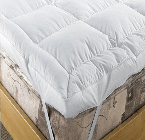 Hebden Luxus Ente Feder & Down Matratzenauflage Extra Tief 12,7cm (12,5cm) Enhancer Weiß, Twin