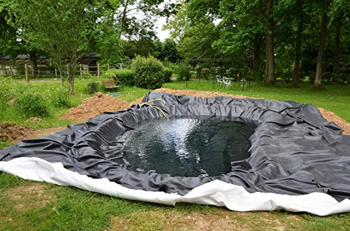 Teichfolie Gartenteichfolie 1,0mm schwarz Folie für den Gartenteich Teichbau verschiedene Abmaße … (1m lang, schwarz 2m breit) - 5