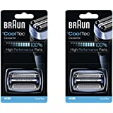 40B BRAUN Mens Electric Shaver CoolTec Foil & Cutter Pack Set Head Replacement Cassette, 2 Count
