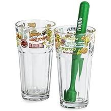 2er Set Mojito Gläser inkl. Stößel Cocktail-Glas Gläser Highball-Glas Longdrink