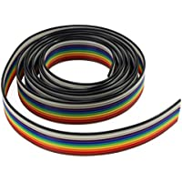 Aussel Ribbon Cable 1.27mm Rainbow Color Flat Cable para conectores de 2.54 mm