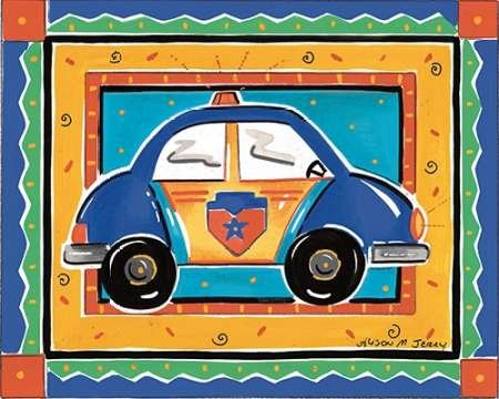Feeling at home, Stampa artistica x cornice - quadro, fine art print, Auto della polizia cm 76x94