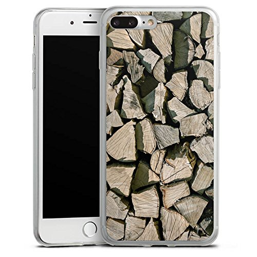 Apple iPhone X Slim Case Silikon Hülle Schutzhülle Holz Look Holzscheite Baum Silikon Slim Case transparent