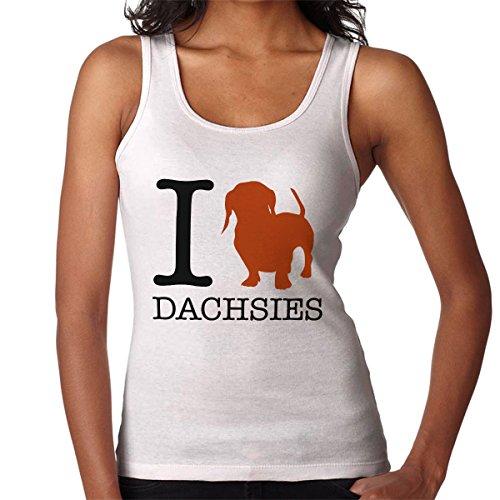 I Heart Dachsies Women's Vest White