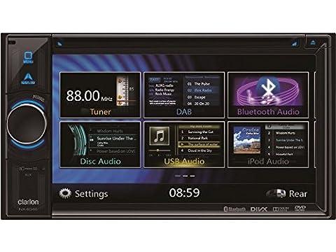 Clarion Navigation Auto Radio 2 DIN DVD USB HDMI mit Bluetooth passend für VW Passat 3B BG 1996-05/2005 incl