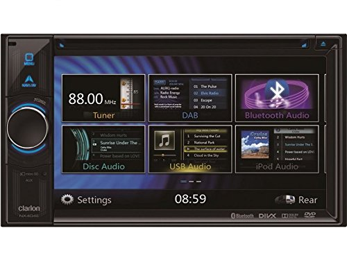 Dvd Honda Navigation Accord (Clarion Navigation Auto Radio 2 DIN DVD USB HDMI mit Bluetooth passend für Honda Accord CL CM CN 11/2002-05/2008 incl Einbauset)