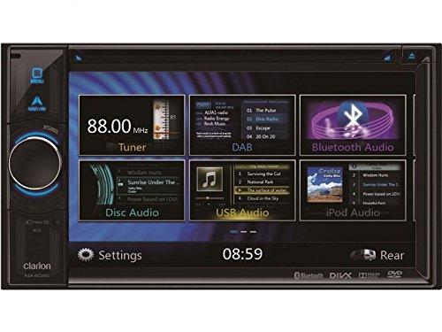Clarion Navigation Auto Radio 2 DIN DVD USB HDMI mit Bluetooth passend für Mitsubishi Eclipse 4G 2005-2012 incl Einbauset