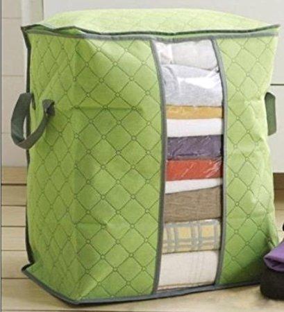 Divinext Foldable Bamboo Charcoal Non-woven Portable Storage Box Clothing Organizer – 1pc Random Color
