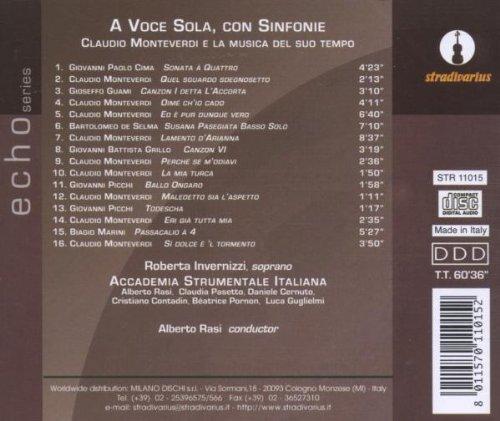 Monteverdi : A voce sola, con sinfonie. Invernizzi.