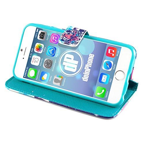 deinPhone Apple iPhone 6(4.7) Case Tigre, con croce, blu/rosso