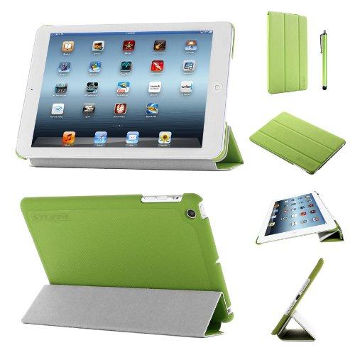 Stuff4®PU Leder Slim zusammenklappbar Multi Position Fall mit Tri Fold Ständer für iPad Mini/Mini Retina-Grün (Ipad Mini Retina Case-portfolio)