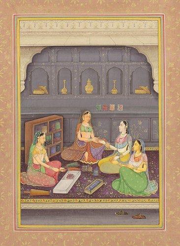Exotic India Damen An Armreifen Shop-Aquarell Malerei auf Papier-Künstler: Navneet Parikh - (Künstler Armreif)