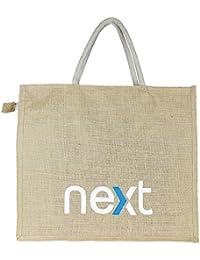 Eco Friendly Jute/Burlap Natural Large Grocery Shopping Tote Bag