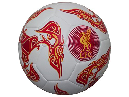 LFC Warrior Fußball Fußbälle Freizeitbälle Soccer Ball Liverpool Football Club LFC Ball White/Red/Orange Size 5 Brand New LFFL122-WRA
