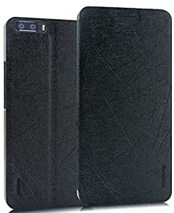 Huawei Honor 6 Plus Flip Cover / Case - Cool Mango Executive PU Leather Series Flip Cover– Simple Black