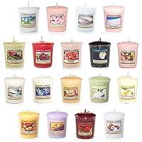 18candele votive candela Yankee Candle. Una miscela di 18candele dal nostro enorme collezione di candele Yankee Candle. Ciascuno dei 18profumazioni saranno diversi, senza duplicati verranno inviati. Una miscela di fiori, cibo e spezie, frutta fres...