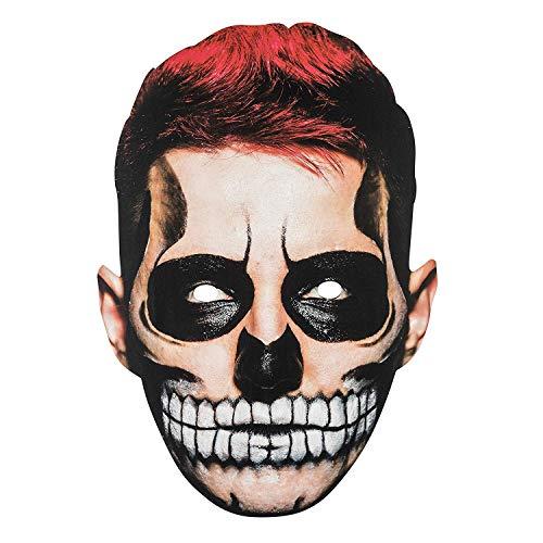 TRIXES Halloween 2D Gesichtsmaske Scary Man Gruseltyp Maske für ausgefallene Kostüme Partys und Trick-or-Treat
