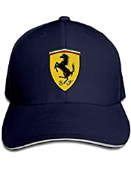 yhsuk Ferrari Team Sandwich Peaked Hat/Cap Marina