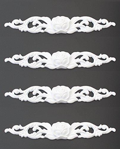 Euro Tische 4er Set Zierleiste Zierteile Verzierungen Rosen Ornament Antik Möbel Beschläge 26cm