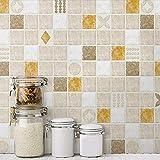 YwlQTie Küche Öl-Beweis Aufkleber Selbstklebende Tapete dick hochtemperaturbeständige wasserdicht Öl-Nachweis Wandaufkleber, 0,5 * 1m