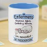 La Mente es Maravillosa - Taza cerámica de café o desayuno - Regalo para el mejor ENFERMERO - Un enfermero...