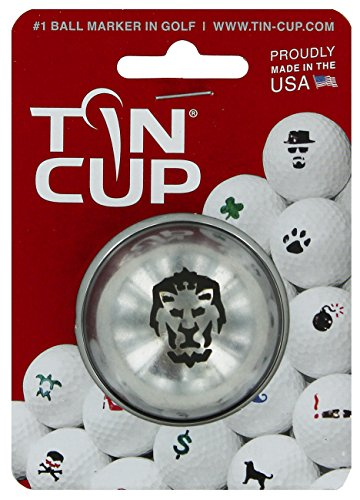 TIN CUP. GOLF BALL MARKER SYSTEM. BIG CAT.